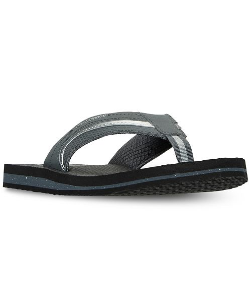 89d4337acc1d7c ... New Balance Men s Brighton Thong Flip Flop Sandals from Finish ...