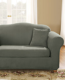 Sure Fit Stretch Faux Suede 2-Piece Slipcover Collection