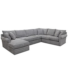 CLOSEOUT! Doss II 4-Pc. Fabric Chaise Sectional Sofa