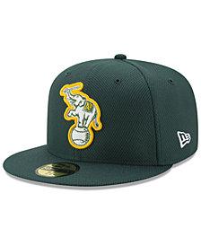 New Era Oakland Athletics Batting Practice Diamond Era 59FIFTY Cap