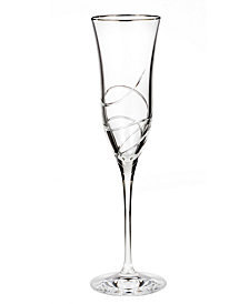 Waterford Stemware, Ballet Ribbon Essence Platinum Flute