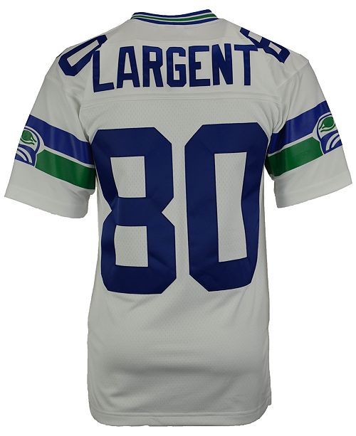new styles e4ad5 f6c78 Men's Steve Largent Seattle Seahawks Replica Throwback Jersey