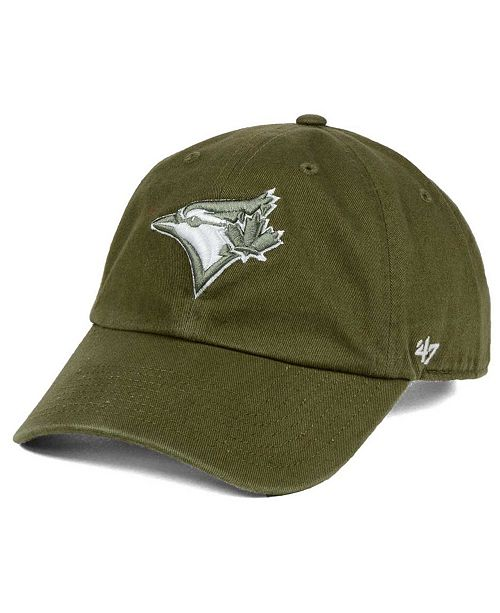 '47 Brand Toronto Blue Jays Olive White Clean Up Cap
