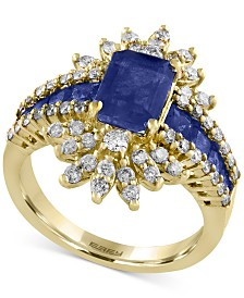 Royalé Blue by EFFY® Sapphire (2-1/2 ct. t.w.) and Diamond (3/4 ct. t.w.) Ring in 14k Gold