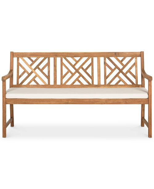 Safavieh Glendyn Outdoor Bench, Quick Ship