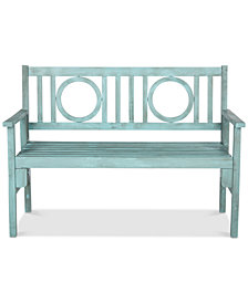 Narine Outdoor Folding Bench, Quick Ship