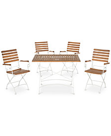Oaklea Outdoor 5-Pc. Dining Set (Dining Table & 4 Chairs), Quick Ship