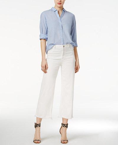DL 1961 Hepburn Cropped Wide-Leg Jeans