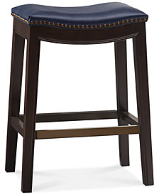 Gardenia Saddle Counter Stool, Quick Ship