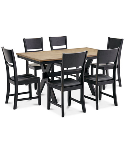 CLOSEOUT! Archer Dining Furniture, 7-Pc. Set (Dining Table & 6 Side Chairs), Created for Macy's