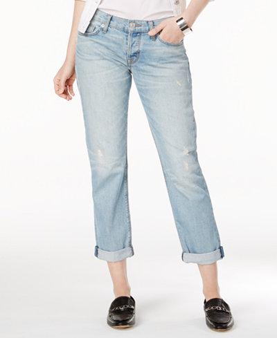Hudson Jeans Riley Ripped Straight-Leg Jeans - Jeans - Women - Macy's