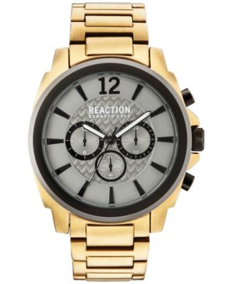 b3428c7e9dc Kenneth cole reaction mens chronograph gold tone stainless steel bracelet  watch tif 500x613 Reaction kenneth cole