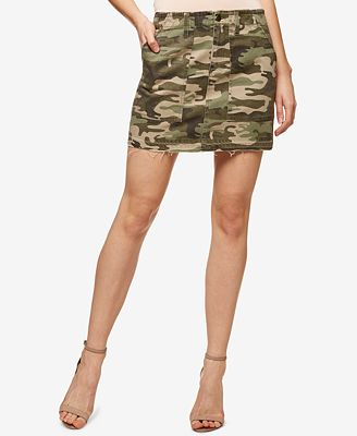 Sanctuary Camo-Print Cotton Mini Skirt - Skirts - Women - Macy's