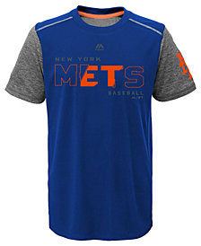 Majestic New York Mets Club Series Cool Base T-Shirt, Big Boys (8-20)
