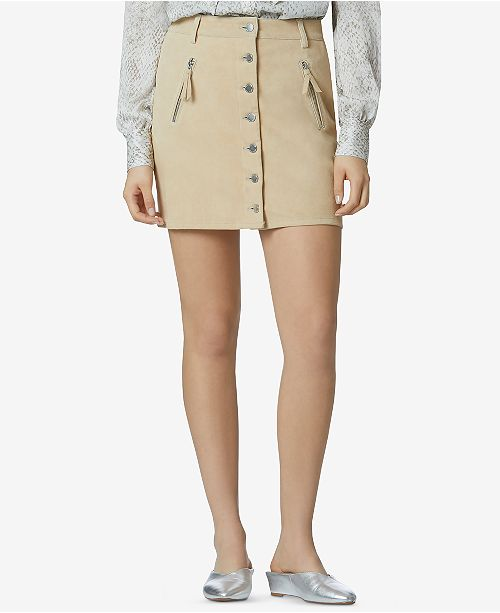 Suede Stretch Mini Skirt