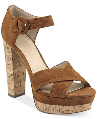 GUESS Women's Parris Two-Piece Platform Sandals