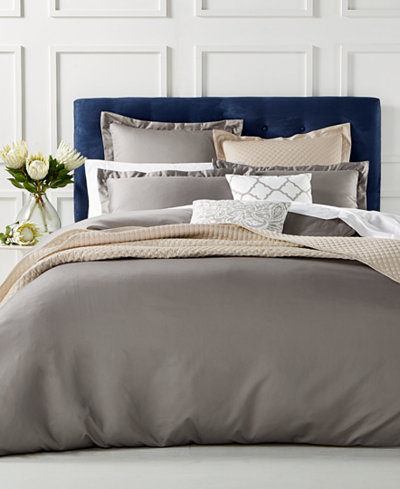 Charter Club Damask Duvet Cover Collection 100 Supima Cotton 550 Thread Count Created For