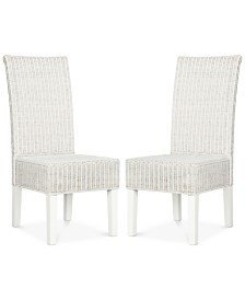 Shanley Set of 2 Wicker Dining Chairs, Quick Ship