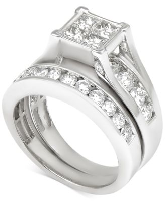 Bridal Set Womens Engagement and Wedding Rings Macys