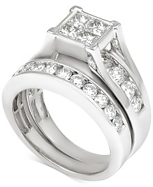 Diamond Quad Bridal Set (2 ct. t.w.) in 14k White Gold