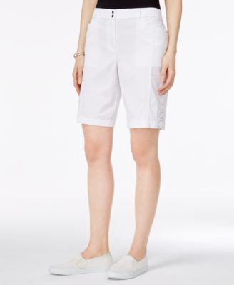 Image of Karen Scott Tie-Hem Shorts, Only at Macy's