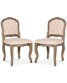 Sanda Set of 2 Dining Chairs, Quick Ship