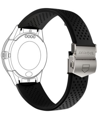 Modular Connected 2.0 Black Perforated Rubber Smart Watch Strap 1FT6076