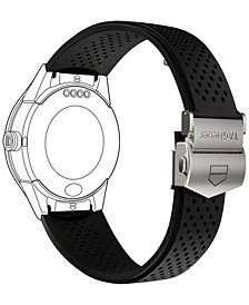 TAG Heuer Modular Connected 2.0 Black Perforated Rubber Smart Watch Strap 1FT6076