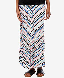 Motherhood Maternity Striped Midi Skirt