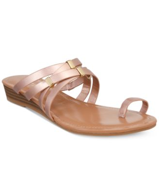 Image of Bar III Vanita Toe-Ring Wedge Sandals, Created for Macy's