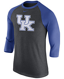 Nike Men's Kentucky Wildcats Triblend Logo 3/4 Sleeve Raglan T-Shirt