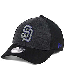 New Era San Diego Padres Black Heathered 39THIRTY Cap