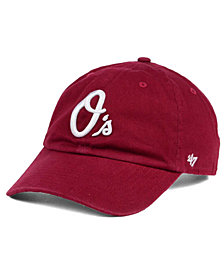 '47 Brand Baltimore Orioles Cardinal and White Clean Up Cap