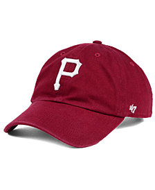 '47 Brand Pittsburgh Pirates Cardinal and White Clean Up Cap