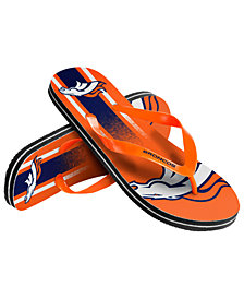 Forever Collectibles Denver Broncos Gradient Big Logo Flip Flops