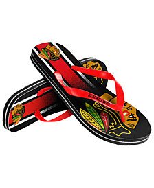 Forever Collectibles Chicago Blackhawks Gradient Big Logo Flip Flops