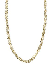 "Italian Gold Necklace, 14k Gold 18"" Perfectina Chain Necklace (1-1/4mm)"