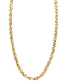 """14k Gold Necklace, 24"""" Faceted Chain (1-1/2mm)"""