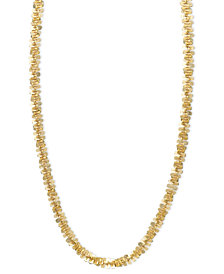 "14k Gold Necklace, 24"" Faceted Chain"