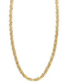 "14k Gold Necklace, 24"" Faceted Chain (1-1/2mm)"