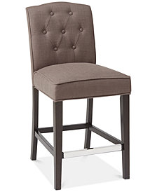 Marian Tufted Counter Stool, Quick Ship