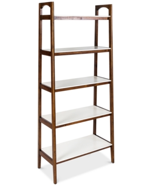 Fill the void in your space with the appealing mid-century inspired design and warm contrasting finish of this versatile five-shelf bookcase.