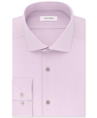 Image of Calvin Klein Men's STEEL Slim-Fit Non-Iron Stretch Performance Unsolid Dress Shirt