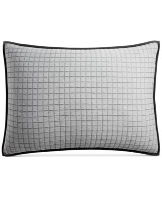 CLOSEOUT!  Linen Plaid Quilted Standard Sham, Created for Macy's