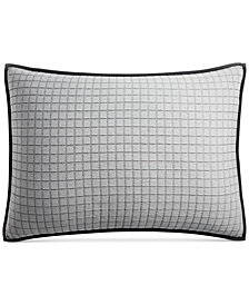 CLOSEOUT! Hotel Collection  Linen Plaid Quilted Standard Sham, Created for Macy's