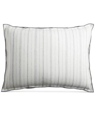 CLOSEOUT!  Linen Ticking Stripe Standard Sham, Created for Macy's
