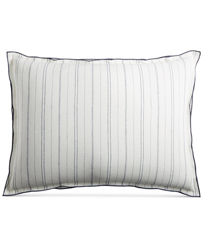 CLOSEOUT! Hotel Collection Linen Ticking Stripe Standard Sham, Created for Macy's