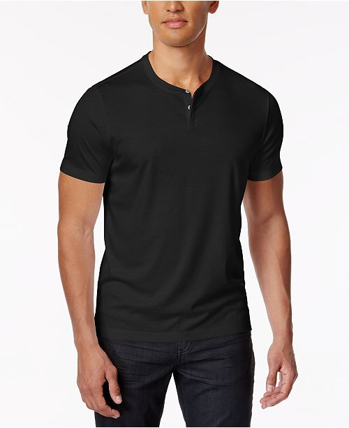 a7643a07fe13 Alfani Men's Soft Touch Stretch Henley, Created for Macy's & Reviews ...