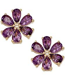 Amethyst (2-1/6 ct. t.w.) & Diamond Accent Stud Earrings in 14k Gold