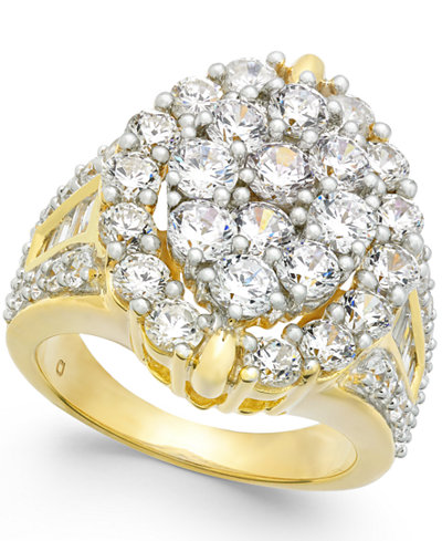 Diamond Oval Cluster Ring (4 ct. t.w.) in 14k Gold